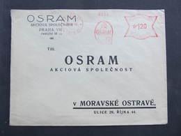 BRIEF Praha 21 OSRAM 1943 Frankotype Freistempel Postfreistempel// N7366 - Bohemia & Moravia