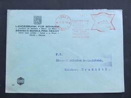 BRIEF Praha 1 Landesbank 1944 Frankotype Freistempel Postfreistempel// N7367 - Böhmen Und Mähren