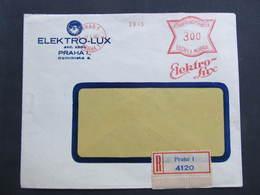 BRIEF Praha 1 Elektro Lux 1940  Frankotype Freistempel Postfreistempel// N7372 - Briefe U. Dokumente