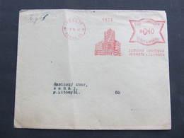 BRIEF Praha 35 Zemska Hasicska 1942  Frankotype Freistempel Postfreistempel// N7374 - Böhmen Und Mähren