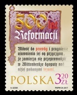 Poland 2017 Mih. 4898 Reformation In 1517 MNH ** - 1944-.... Republiek