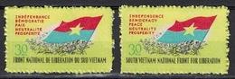 Vietnam 1968, Vietcong / Viet Cong Issue Bilingual - Banner - Flag **, MNH, CV.: 10 Euro - Vietnam