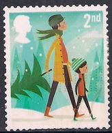 GB 2014 QE2 2nd Class Christmas SG 3650 Used Stamp ( F1391 ) - 1952-.... (Elizabeth II)
