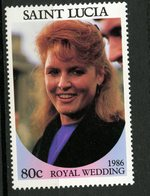 St. Lucia 1986 80c Royal Wedding Issue #839a  MNH - St.Lucia (1979-...)
