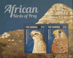 O) 2014 GAMBIA, BIRDS OF PREY - PALE CHANTING GOSHAWK   MELIERAX CANORUS - COMMON KESTREL  FALCO TINNUNCULUS, HABITAT M - Gambia (1965-...)