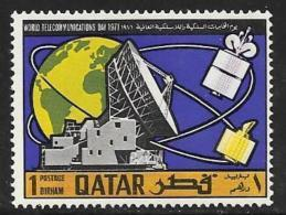 Qatar, Scott # 244 MNH  World Telecommunications Day, 1971 - Qatar