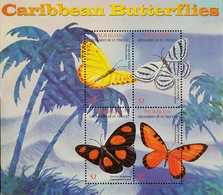 O) 2014 ST. VINCENT AND GRENADINES, BUTTERFLIES, PALM ISLAND, SOUVENIR MNH - St.Vincent & Grenadines