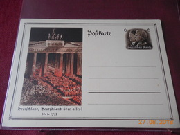 Carte Entier Postal De 1933 D Allemagne - Briefe U. Dokumente