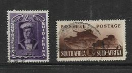 S.Africa 19421, War Effort, 2d , 1/= Singles,c.d.s. Used - Zuid-Afrika (...-1961)