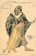 ILLUSTRATEUR TUGOT Casablanca 1909. Boulice Marocain, Maintenant Ti Marcher L'brison. Télémessagerie Militaire 1912 - Künstlerkarten