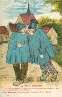 GAULOISERIES HUMOUR. Au Pays Normand Paysans Ivres Par F.B Collection Bunel - People