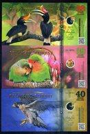 Atlantic Forest Set 38;39;40 Aves Dollars 2018 - Hornbill, Lovebirds, Falcon - Bankbiljetten