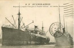 WW Promotion : Navires, Bateaux, Paquebots Et Marine De Guerre. Le BUENOS-AIRES Ex Navire Boche 1920 - Guerre