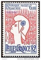 """France N° 2217 ** PhilexFrance 82 - La """" Marianne De Jean COCTEAU """"  Le  6.00 Fr. - Nuovi"""