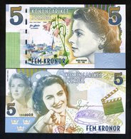 Sweden, 5 Kronor, Private Issue Essay, 2018 - Ingrid Bergman - Bankbiljetten