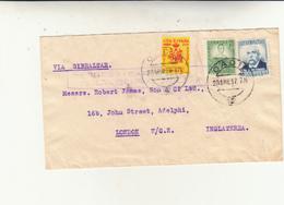 Cadice Per London, Via Gibilterra Periodo Guerra Di Spagna. Cover Con Censura 1937 - 1931-50 Storia Postale