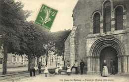 Jouy Le Potier Portail De L'Eglise (XIIe S) Personnages  RV - France