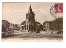 60 Ste Sainte Genevieve Eglise Cpa Carte Animée Animation Edit Roblot Cachet Ste Genevieve Petit Fercourt 1934 - Sainte-Geneviève