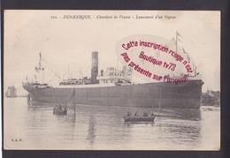 P967 - DUNKERQUE Chantiers De France Lancement D'un Vapeur - Nord - Dunkerque
