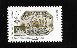 FRANCE Les Arts De La Table Plat MOULINS 1534 - Adhesive Stamps