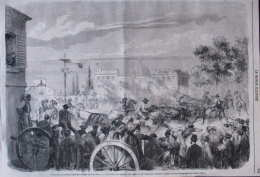 Fête International De Saint-Rémy De Provence - Abrivado De Taureaux Sauvages De La Camargue - Page Original 1868 - Documents Historiques