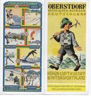 REISE PROSPEKT OBERSTDORF MIT VERMIETER-VERZEICHNIS U. PREISLISTE 1931 - Dépliants Touristiques