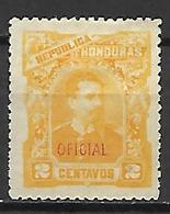 HONDURAS    -   Service  /  Oficial   -  1891.   Y&T N° 13 (*).   Surchargé. - Honduras