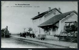 La Haute-Garonne - La Magdelaine, Près Villemur La Gare - Reproduction Ancienne D'une CPA Sur Papier Photo - See 2 Scans - Bahnhöfe Mit Zügen