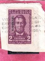 ARGENTINA 1957 OFICIAL STAMPS OVERPRINTED SERVICIO OFFICIAL ESTEBAN ECHEVERRIA PESOS 2p USATO USED OBLITERE' - Servizio
