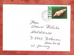 Brief, EF Kegelschnecke, Port Louis Nach Birkenau 1981 (56558) - Mauritius (1968-...)