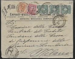 STORIA POSTALE REGNO - ANNULLO VERONA(VIA TEATRO FILARMONICO) SU FRONTESPIZIO RACCOMANDATA 22.06.1900 - Marcophilia