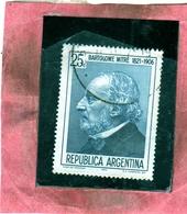 ARGENTINA 1972 PRESIDENT BARTOLOME MITRE WRITER HISTORIAN SOLDIER CENT. 25 USATO USED OBLITERE' - Argentina