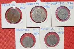 (1049187) Mauritius 5 X Div. Münzen Doublettenbestand, Siehe Bitte Beschreibung U. Originalbilder - Mauritius