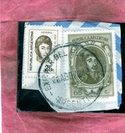 ARGENTINA 1971 1972 GENERAL JOSE DE SAN MARTIN GENERALE CENT. 25c + 65c USATO USED OBLITERE' - Argentina