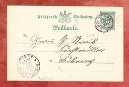 P 34 Ziffer, Schwendi Nach Biberach 1891 (56562) - Wurttemberg