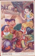 1938 Valentine's Seven Dwarfs Snow-White Film Sneeuwwitje Blanche Neige Disney Walt Old (fold) - Autres