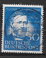 Germania (Repubblica Federale Tedesca) 1952 Anniversario Del Telefono In Germania. Philipss Reis. Valore Usato - [7] Repubblica Federale