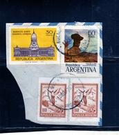 ARGENTINA 1971 BARILOCHE PESOS 1,00p 1974 CONGRESO NATIONAL 30p 1975  ISCHIGUALASTO VALLE DE LA LUNA 50p USATO USED OBL - Argentina