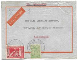 ANGOLA (Portugal) 1939 Commercial Airmail - Vasco Da Gama & Ceres Franking - Via South Africa - Angola