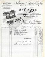 63 - Puy-de-de-dôme - CLERMONT-FERRAND - Facture PORTE - Fabrique De Fruits Confits - 1906 - REF 105B - France