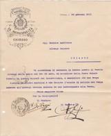 DOCUMENTO DI COMUNICAZIONE - DEL MUNICIPIO DI CHIASSO ( CANTON TICINO ) INVIATO ALL' ALBERGO COLONNE DI CHIASSO - Svizzera