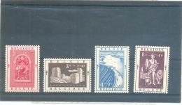 1952 BELGIQUE Y & T N° 904 - 905 - 906 - 907 ( ** ) Les 4 Grosse Valeurs De La Série - Belgium
