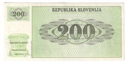 Slovenia 200 Tolarjev 1990 - Slovenia