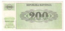Slovenia 200 Tolarjev 1990 - Slovénie