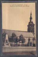 Carte Postale 59. Lannoy église Et Monument Aux Morts  Très Beau Plan - Andere Gemeenten