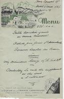 Menu Publicitaire Ancien  La Grande Chartreuse - Menus