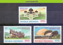 Mgm1351 TOERISME GEBOUWEN ARCHITECTUUR TOURISM THEATRE PALACE MOSQUE ARCHITECTURE INDONESIA 1988 PF/MNH - Vakantie & Toerisme
