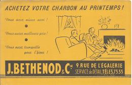 Buvard J. Bethenod Et Cie. Rue De L'égalerie. Saint-Etienne? Achetez Votre Charbon Au Printemps - Gas, Garage, Oil