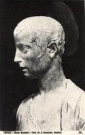 Firenze - Cartolina TESTA DI SAN GIOVANNINO Di DONATELLO (marcata 865) Museo Nazionale - PERFETTA P72 - Sculptures