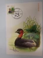 3993 Dodaars Getekende Kaart Buzin Stempel Antverpia 2010 - 1985-.. Birds (Buzin)